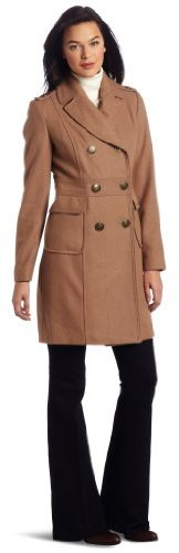 Kenneth Cole New York Women's Double Breasted Wool Coat