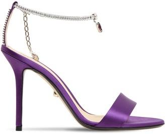 ALEVÌ Milano 90mm Aurora Satin & Crystal Sandals