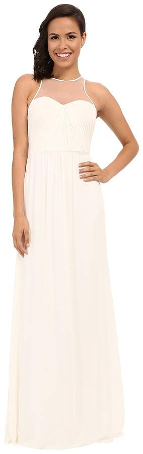 Faviana Chiffon Gown with Illusion Sweetheart Neckline/Rouched Bodice Keyhole Back 7774 Women's Dress