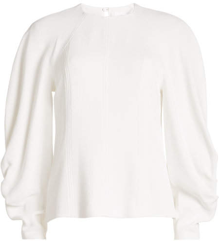 Victoria Beckham Textured Top with Draped Sleeves