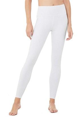 Alo High-Waist Vapor Leopard Leggings (White) Women's Casual Pants