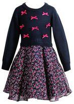 Sweet Heart Rose Sweetheart Rose Little Girl's Chiffon Cotton Sweater Dress