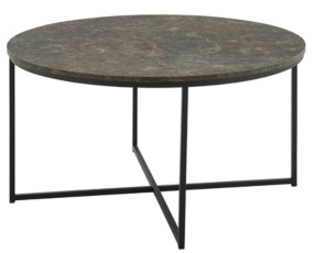 "Walker Edison Alissa 36"" Coffee Table with X Base"