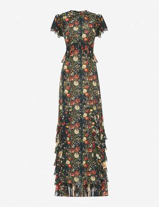 The Vampire's Wife The Frill Seekers floral-print silk-chiffon maxi dress