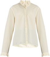 Lemaire Ruffled long-sleeved cotton shirt