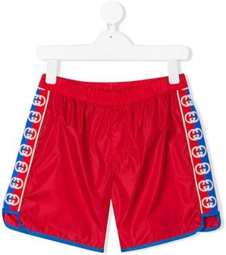 Gucci Kids GG trim swim shorts