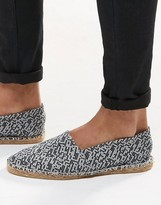 Asos Espadrilles In Black And White