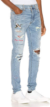 Amiri Art Patch Jean in Rosebowl | FWRD