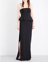 Chalayan Peplum hem stretch-crepe dress