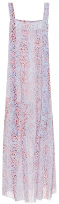See by Chloe Printed cotton and silk maxi dress