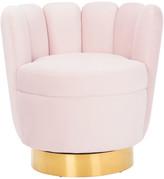 Safavieh Arrow Channel Tufted Chair, Light Pink