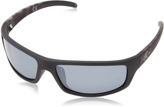 Anarchy Men's Skeptical Polarized Wrap Sunglasses