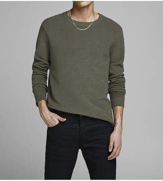 Jack and Jones Men Cotton Crew Neck Long Sleeve Sweater
