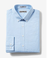 Express fitted plaid tech easy care button-down dress shirt