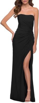 La Femme Strapless Gown