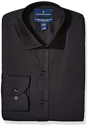 Buttoned Down Xtra-slim Fit Spread-collar Stretch Poplin Non-iron Dress Shirt