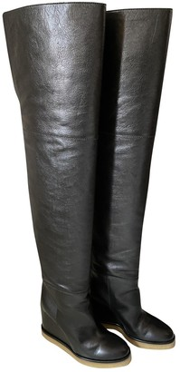 Celine Folco Black Leather Boots