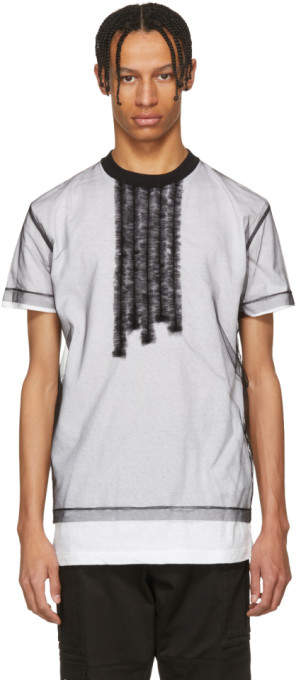 DSQUARED2 White and Black 50s Prom Cool Fit T-Shirt