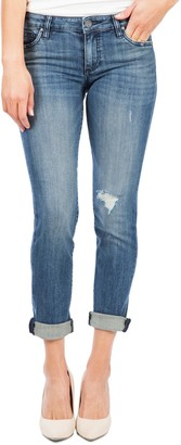 KUT from the Kloth Catherine Distressed Boyfriend Jeans (Regular & Plus Size)