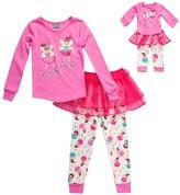 Dollie & Me Pink Tutu Pajama Set & Doll Outfit - Toddler & Girls