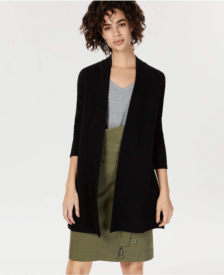 Charter Club Pure Cashmere Pointelle-Stitch Cardigan