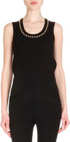 Givenchy SLEEVELESS WOOL TOP WITH GOL