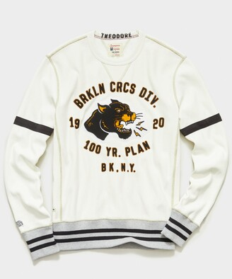 Todd Snyder + Champion Brooklyn Circus Cougar Graphic Sweatshirt in Vintage White