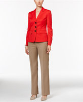 Le Suit Three-Button Colorblocked Pantsuit