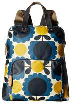 Orla Kiely Matt Laminated Scallop Flower Spot Backpack Tote Backpack Bags