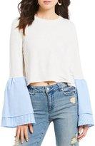 GB Poplin Sleeve Sweatshirt