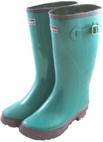 Jileon Wide Calf All Weather Durable Rubber Rain Boots For Women with Soft and Fluffy Lining on the Inside – Fits Perfectly For Calf Sizes Up To 18 Inches-Glossy Blue 7 Wide