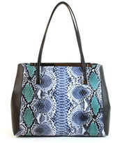 Christian Siriano Inez Vegan Leather Embossed Double Shoulder Bag