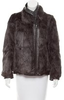 Helmut Lang Reversible Fur Wool Coat