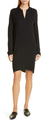 Zero Maria Cornejo Hex Eco Drape Long Sleeve Tunic Dress