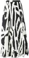 Proenza Schouler knife-pleated long skirt