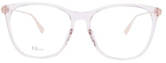 Christian Dior Diorsight03 Round Acetate And Metal Glasses - Light Pink