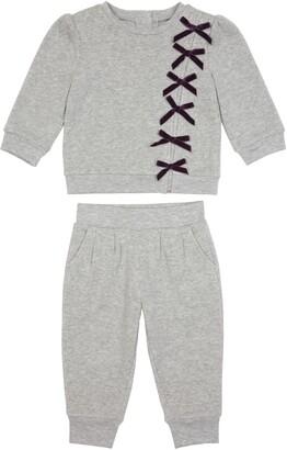 Habitual Kids Habitual Bella Ribbon Sweatshirt & Sweatpants Set