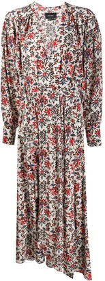 Isabel Marant Long Floral Print Dress