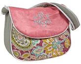 Hoohobbers Messenger Diaper Bag, Pink Flirty Flowers