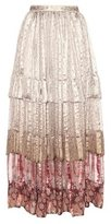 Etro Printed silk skirt