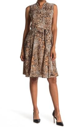 Nanette Nanette Lepore Sleeveless Pintuck Pleat Midi Dress