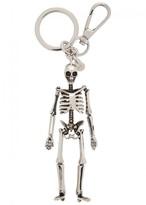 Alexander Mcqueen Silver Tone Skeleton Keyring