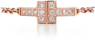 Tiffany & Co. T diamond chain ring in 18k rose gold
