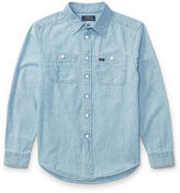 Ralph Lauren 8-20 Cotton Chambray Workshirt