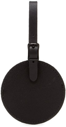 Graf Lantz Circle Black Leather Travel Tag