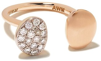 The House Of Aziz & Walid Mouzannar 18kt Rose Gold Brown Diamond Ring