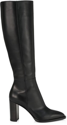Gianvito Rossi Tall Point-Toe Leather Boots