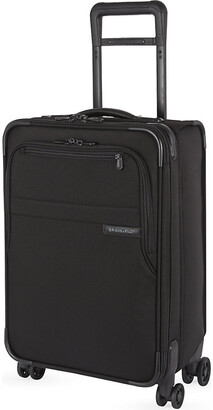 Briggs & Riley Black Domestic Carry-On Spinner Suitcase, Size: 56cm