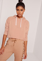 Missguided Sarah Ashcroft Washed Hoodie Nude