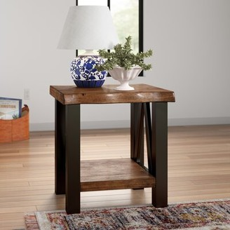 Three Posts Northam Trestle End Table with Storage